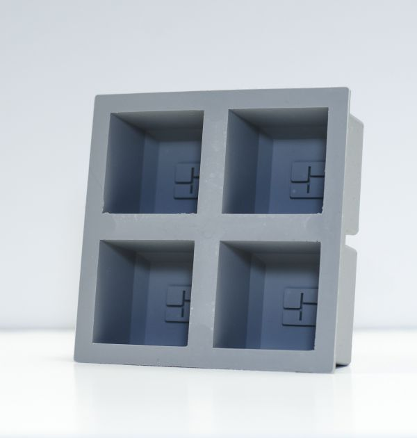 Custom Silicone Square Flexible Ice Cube Molds for Cocktails, Whiskey, Juice and Any Drinks